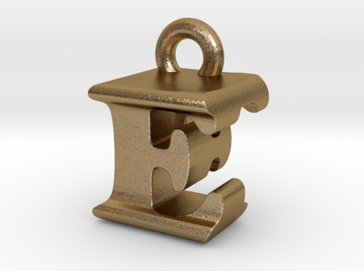 3D Monogram Pendant - EFF1 3d printed