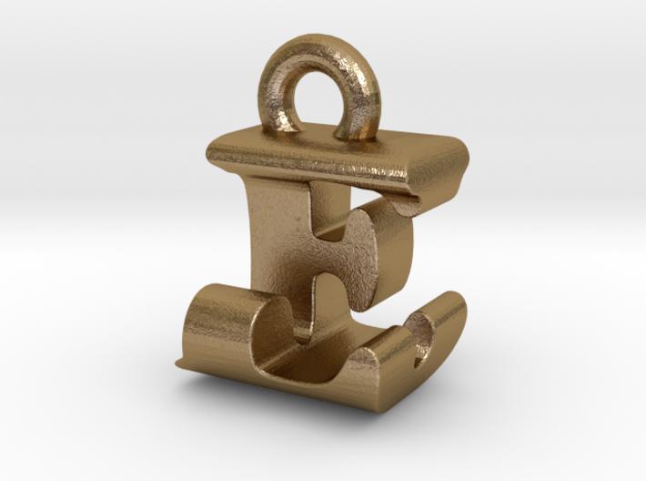 3D Monogram Pendant - EJF1 3d printed