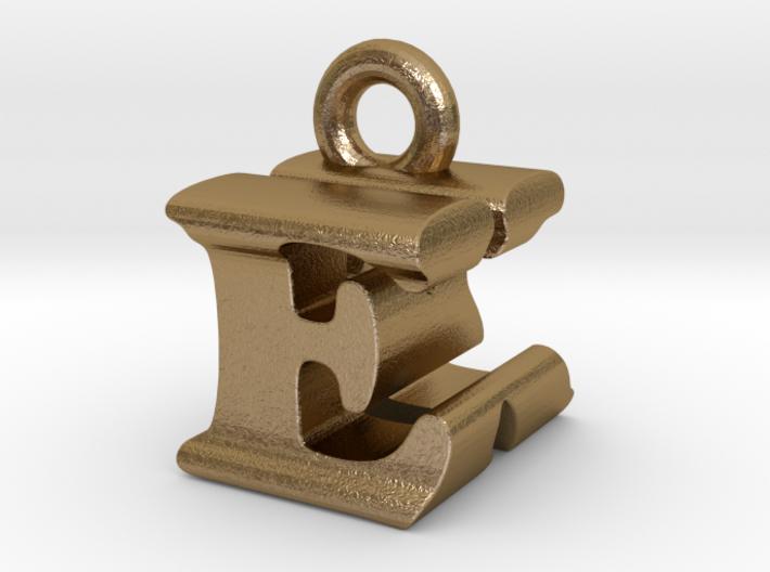 3D Monogram Pendant - EKF1 3d printed