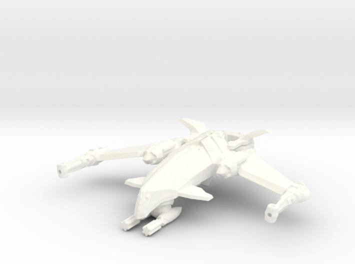 Zen Dazi Zo'aan Class Frigate 3d printed Renders may differ from 3D Prints