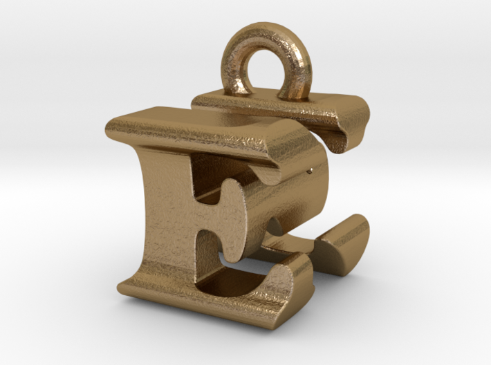 3D Monogram Pendant - ENF1 3d printed