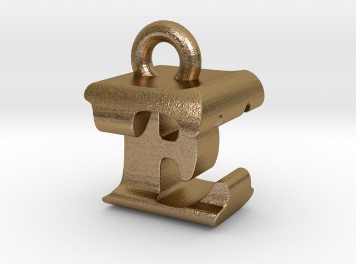 3D Monogram Pendant - ETF1 3d printed