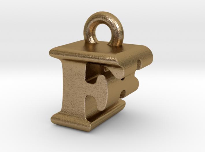 3D Monogram Pendant - FBF1 3d printed