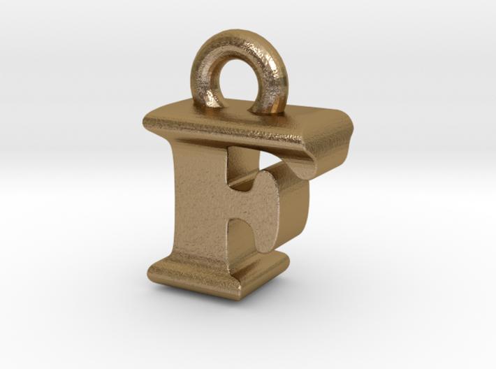 3D Monogram Pendant - FIF1 3d printed