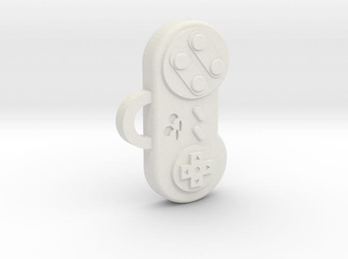 Snes Controller pendant/keychain 3d printed