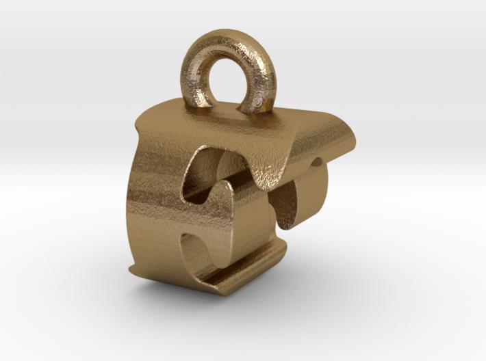 3D Monogram Pendant - FOF1 3d printed