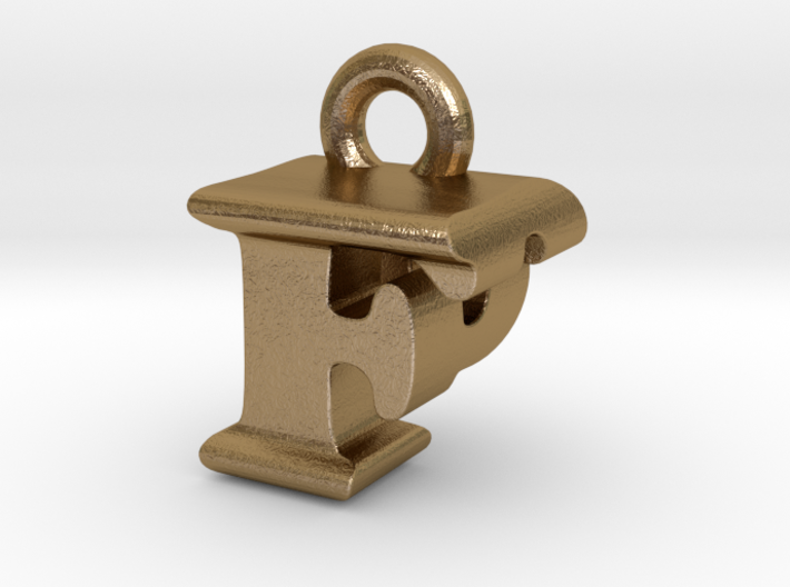 3D Monogram Pendant - FPF1 3d printed