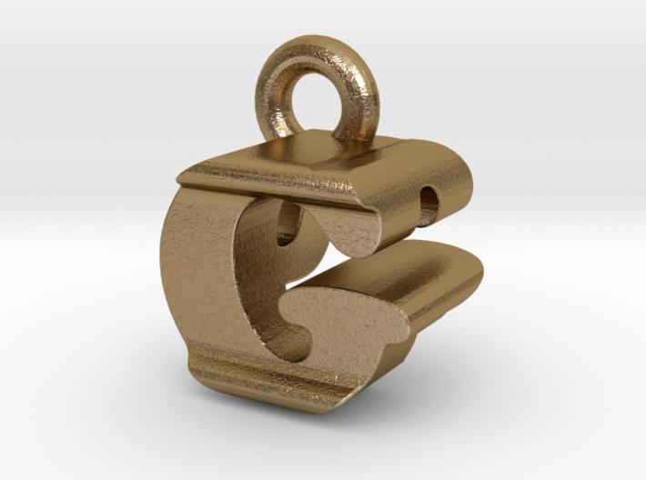 3D Monogram Pendant - GPF1 3d printed