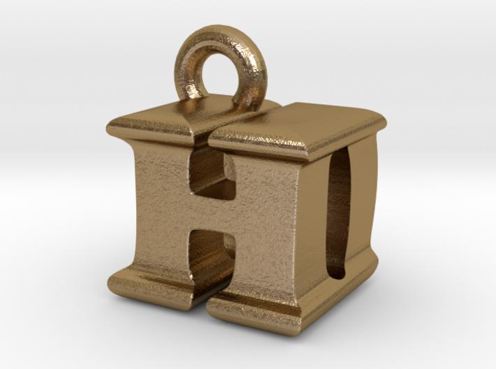 3D Monogram Pendant - HDF1 3d printed