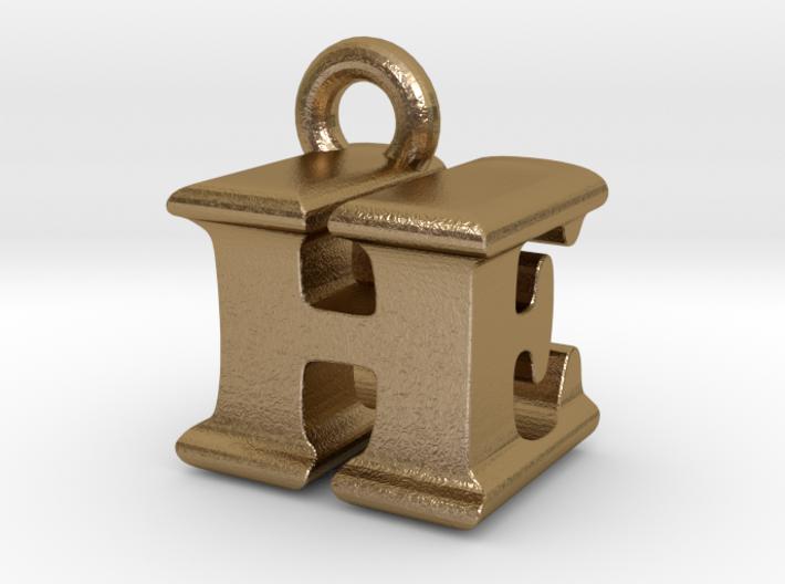 3D Monogram Pendant - HEF1 3d printed