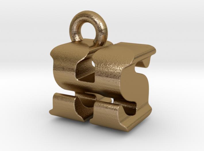 3D Monogram Pendant - HSF1 3d printed