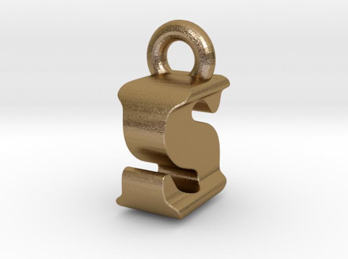 3D Monogram Pendant - ISF1 3d printed