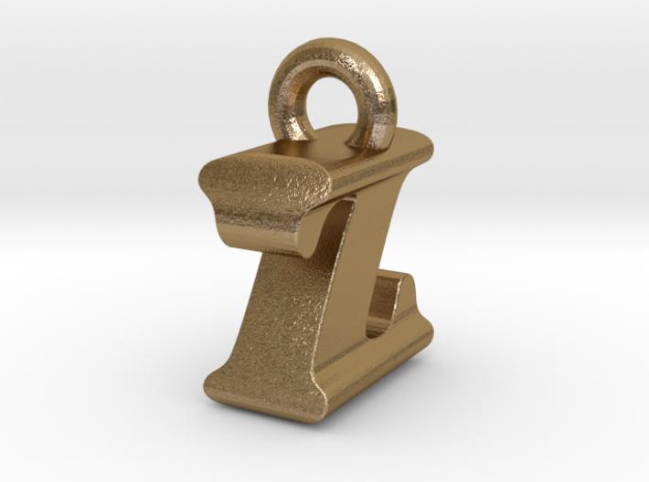 3D Monogram Pendant - IZF1 3d printed