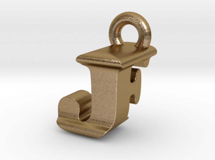 3D Monogram Pendant - JFF1 3d printed
