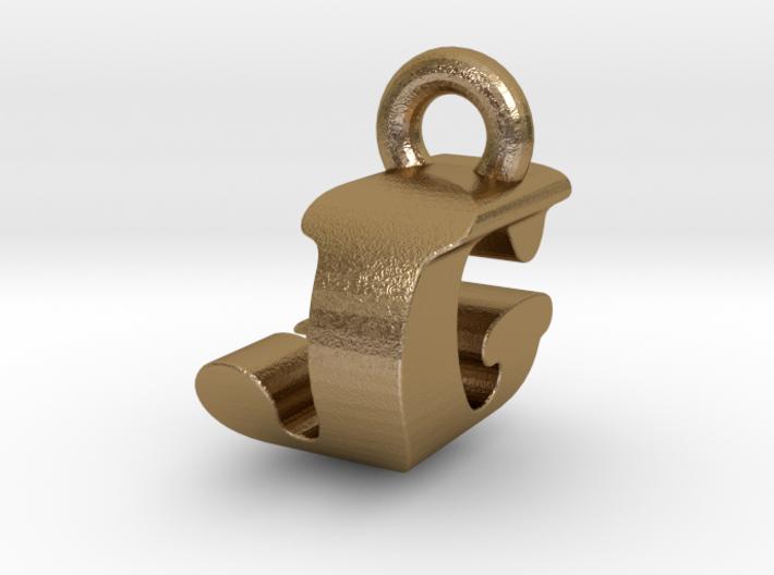 3D Monogram Pendant - JGF1 3d printed
