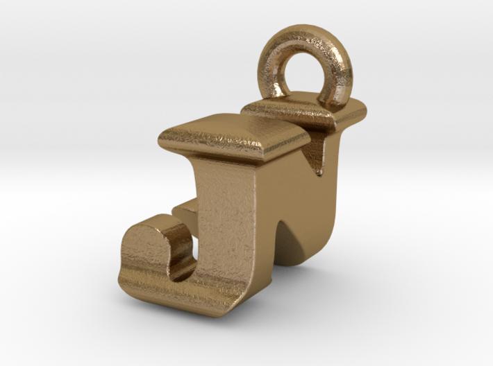 3D Monogram Pendant - JNF1 3d printed