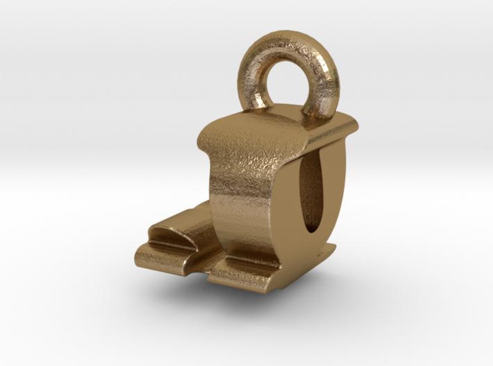 3D Monogram Pendant - JQF1 3d printed