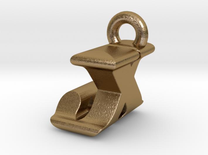 3D Monogram Pendant - JXF1 3d printed