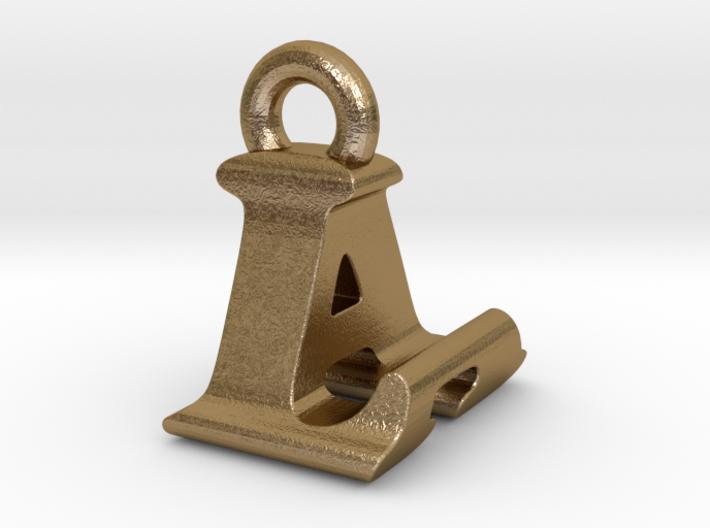 3D Monogram Pendant - LAF1 3d printed