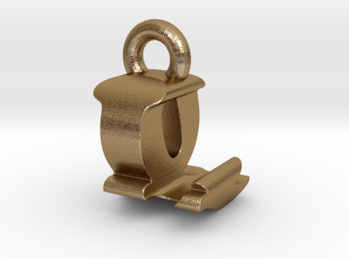 3D Monogram Pendant - LQF1 3d printed