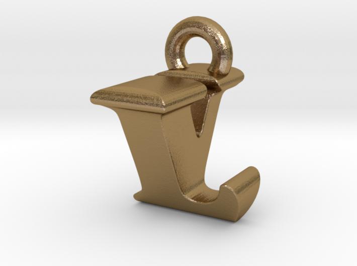 3D Monogram Pendant - LVF1 3d printed