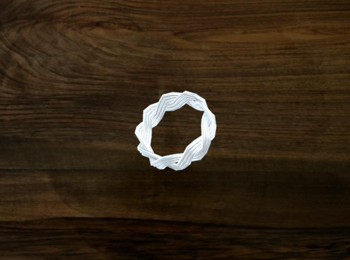 Turk's Head Knot Ring 2 Part X 9 Bight - Size 0 3d printed