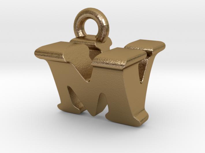 3D Monogram Pendant - MVF1 3d printed