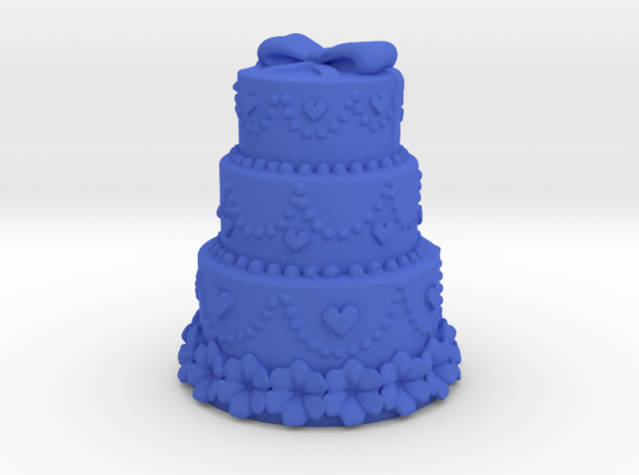 3 stair cake with harts 3d printed
