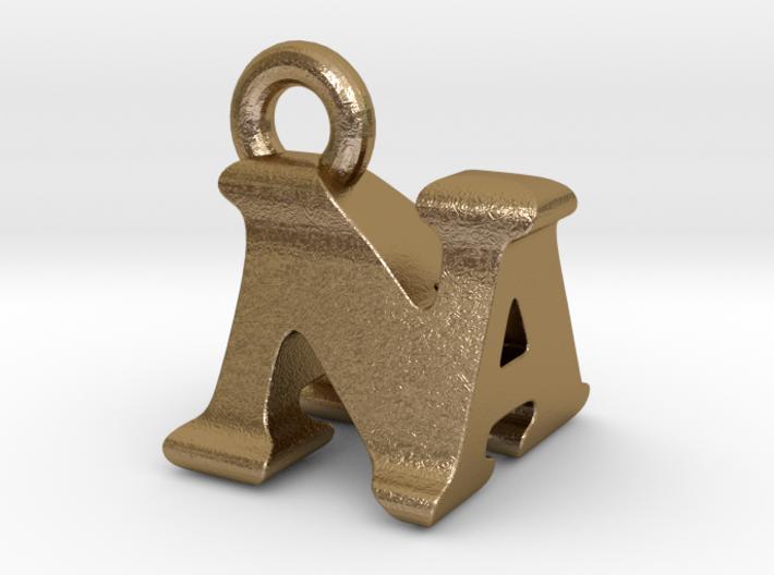 3D Monogram Pendant - NAF1 3d printed
