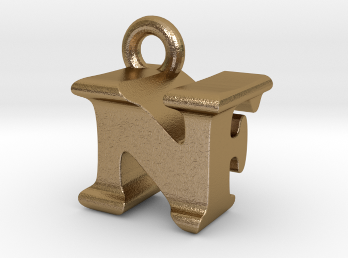 3D Monogram Pendant - NFF1 3d printed