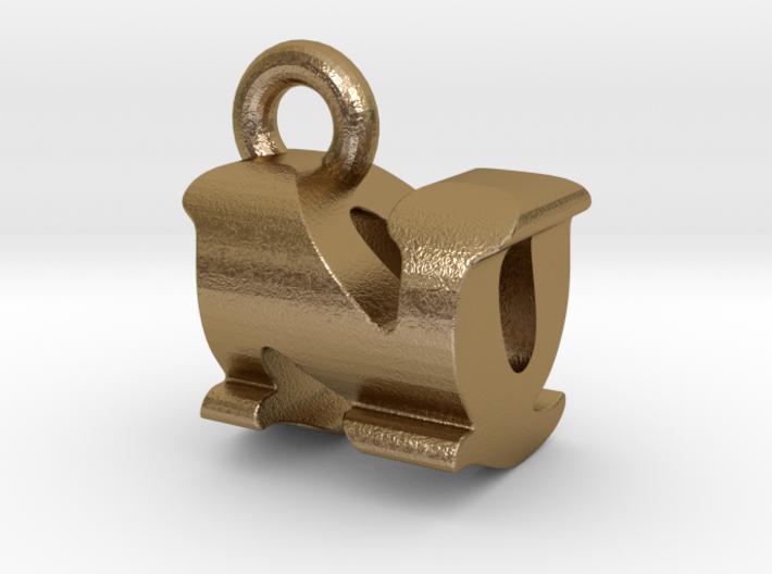 3D Monogram Pendant - NQF1 3d printed