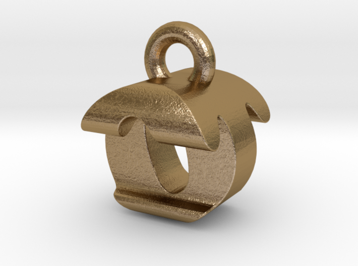 3D Monogram Pendant - OTF1 3d printed