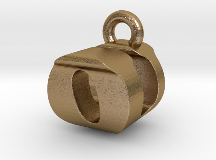 3D Monogram Pendant - OUF1 3d printed