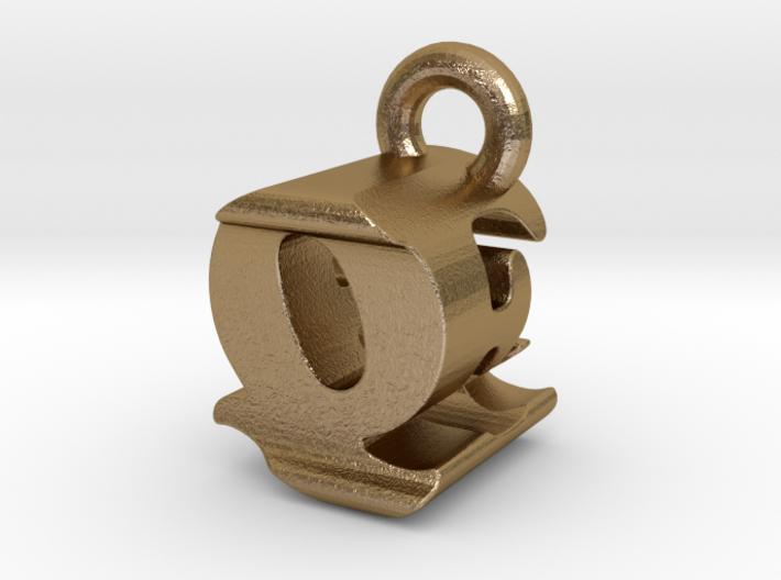 3D Monogram - QEF1 3d printed