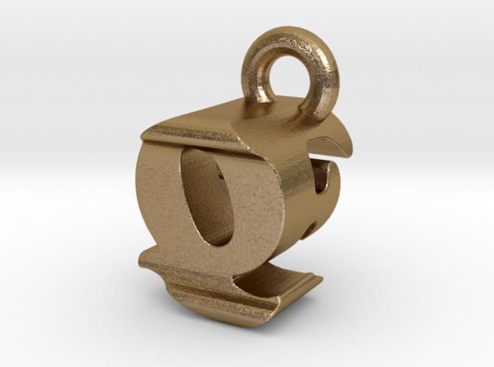 3D Monogram - QFF1 3d printed