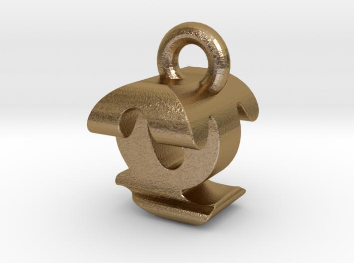 3D Monogram - QTF1 3d printed