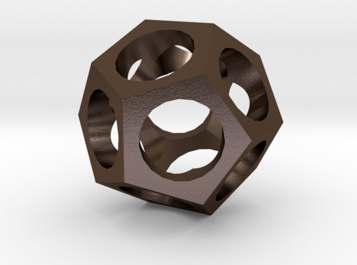 Pendant -dodecahedron 3d printed