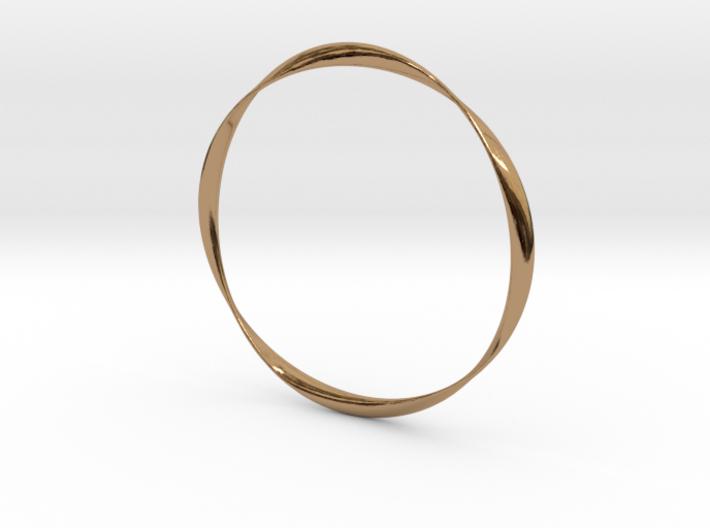 Twisted Bangle Bracelet MEDIUM 3d printed