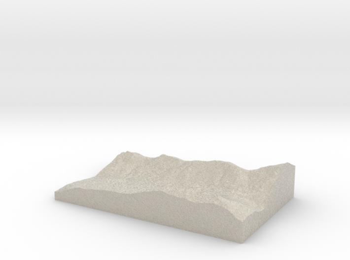 Model of Fish Lake 3d printed