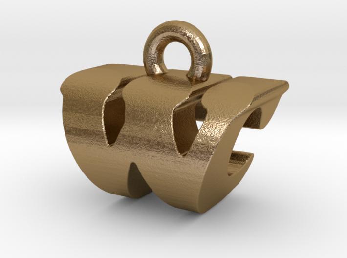 3D Monogram - WCF1 3d printed