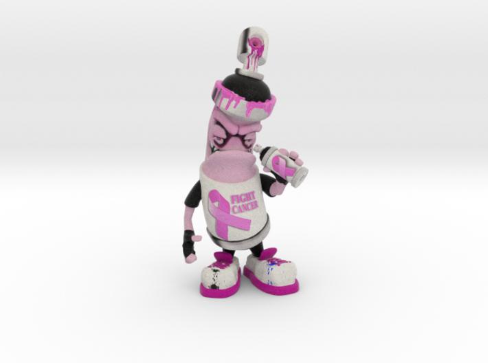 Breast Cancer Awareness Custom Spray Can 3d printed