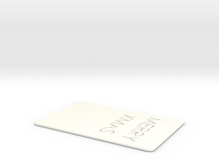 Xmas card 3d printed