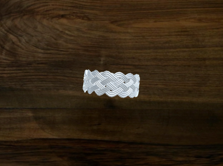 Turk's Head Knot Ring 5 Part X 15 Bight - Size 20. 3d printed