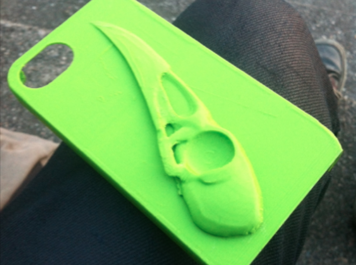 Raven Iphone4 3d printed Ultimaker print..