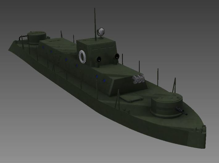 1/56th (28 mm) scale WW2 Hungarian armoured boat 3d printed Tüzér image
