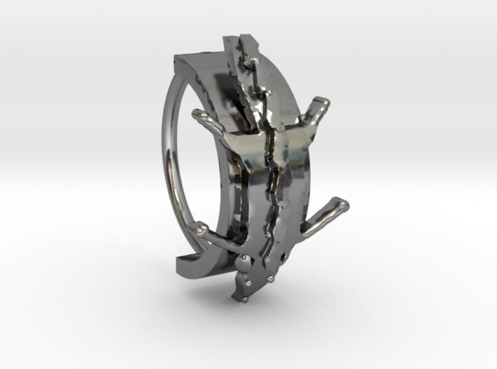 Fox Stole Ring - Sz. 5 3d printed