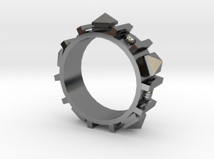 Edwardian Guard II Ring - Sz. 11 3d printed