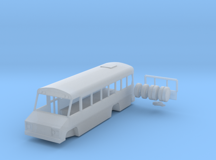 N scale 1:160 Blue Bird Mini Bird school bus 3d printed