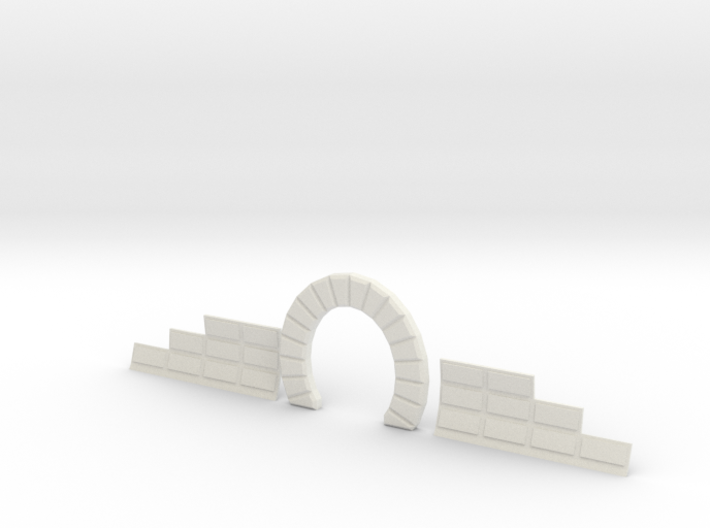 Z SINGLE TRACK STONE TUNNEL W SIDES 3d printed