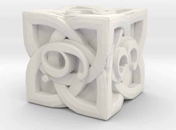 Celtic D6 - Solid Centre for Plastic 3d printed